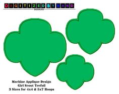 girl scout logo printable solid trefoil green for use only when rh pinterest com Girl Scout Cookie Graphics Girl Scout Brownie