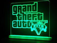 Luminária GAMER LEDs GTA V