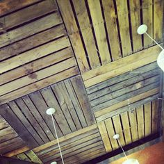 pallet ceiling but use recessed lights
