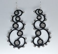 Like a Fibonacci series! - Earrings #tatting #jewelry
