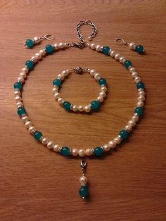 Pearls & aquamarine