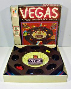 vintage board game - VEGAS - Milton Bradley - 1970s