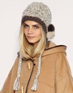 modelos de gorros de lana con borlas Gorros De Lana Mujer b0a37aed370