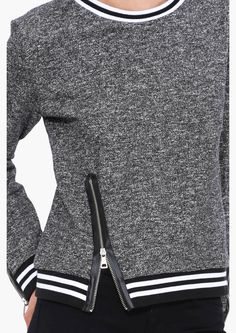 Activewear inspired sweatshirt.
