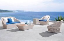 Bisini Garden Sofa Furniture , Outdoor Rattan Sofa Set
