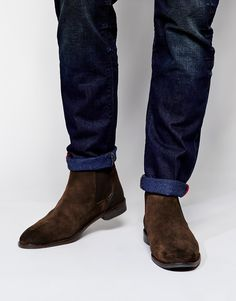 Image 1 of ASOS Chelsea Boots in Suede