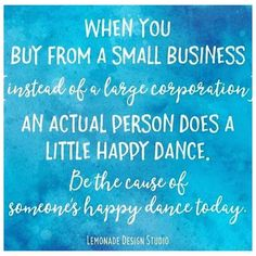 I've seen this popping up in my feed a little (from @lemonadedesignstudio) and it's so very true. Making a purchase even a very small one from a small independent business not only helps support that business but also makes the person behind it fill will delight and do a little happy dance knowing their creations are getting out into the world
