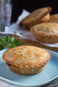 These Creamy Mushroom and Ham Pies, with a wholegrain Kamut & Spelt Crust, are quick to pull together if you happen to have bechamel sauce in the freezer.