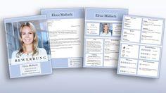 Leserfreundliche Anordnung: CV Komplett-Set Download: Bewerbungs-Deckblatt, Bewerbungsanschreiben, Lebenslauf inkl. Folgeseite für viel Berufserfahrung. Modernes Design in Kacheloptik beeindruckt kompetent als perfekter Bewerber. #CV #Lebenslauf #download
