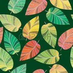 hojas de otoño dibujo: Seamless Las hojas y ramas