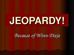 Looking for a fun way to review Because of Winn-Dixie by Kate DeCamillo? Try this Jeopardy game I created to review the story with my students. The game uses Microsoft PowerPoint.