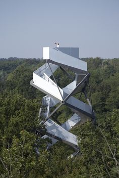 Nature Observation Tower at the Mur river in Austria.