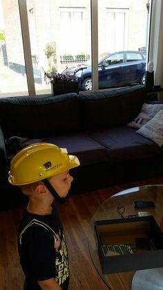 Kinder speelgoed veiligheidshelm met logo van Weinheimer natuursteen