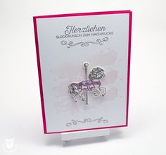 Congratulations Card Carousel Stamped envelope