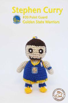 Steph Curry #amigurumi #crochet #doll #stephcurry #curry #goldenstatewarriors #nba #basketball #playoffs #30 #GoWarriorsGo #StrengthInNumbers