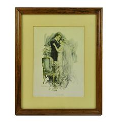 Harrison Fisher Signed Print, To Love and Cherish, Cosmopolitan Magazine, Early 1900s, Framed, Published by Reinthal & Newman, NY