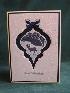 Christmas card 2014 using Clarity stamps