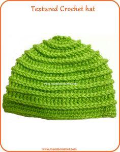 Ravelry: Textured crochet hat: Free pattern pattern by Soledad Z