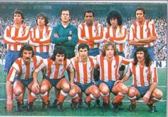 Reina, Marcelino, Pereira, Panadero, Capón; Eusebio, Leal, Alberto; Ayala, Leivinha y Don Jose Eulogio Gárate Peter Schmeichel, Best Football Players, Football Soccer, At Madrid, Team Photos, Big Men, Image, 1975, Random