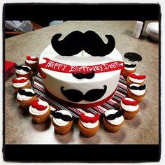 Mustache birthday cake! @Chelsea Rose Rose Rose