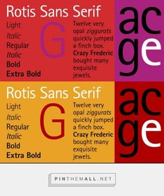 Rotis Sans Serif by Monotype