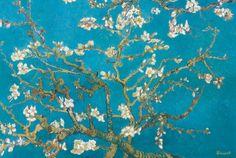Amandeltakken in bloei, San Remy, ca.1890 Kunstdruk