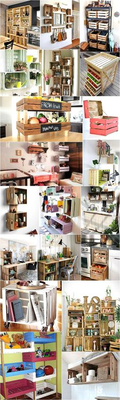 DIY Ideas for Wood Pallet Fruit Crates Recycling