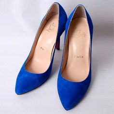 Christian Louboutin Decollete Suede Blue