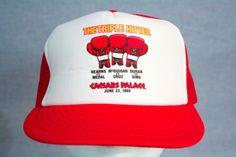 CAESARS-PALACE-Las-Vegas-Vintage-Trucker-Hat-Foam-Front-Mesh-Back-RED-SnapBack