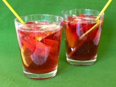 This virgin sangria is my take on the beloved Shirley Temple of my youth, but without all the sugar and high fructose corn syrup!