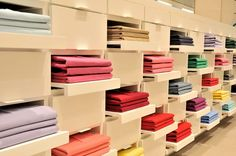 Lacoste. If only folded clothes or towels stayed this way in real life, LOL.