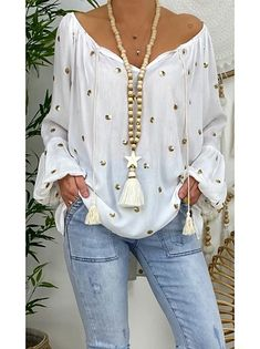 Trend Fashion, Look Fashion, Womens Fashion, Autumn Fashion, Fashion Outfits, Mode Hippie, Basic Tops, Long Blouse, Plus Size Blouses