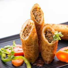 Meat rolls are a mess free, crowd-pleasing appetizer, stuffed with minced meat, potatoes, and spices and fried to golden splendors.