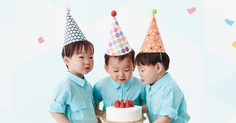 "Watch: Song Triplets Sing ""Happy Birthday"" To Each Other In Adorable Video Singing Happy Birthday, Happy Birthday To Us, Cute Kids, Cute Babies, Baby Kids, Triplet Babies, Superman Kids, Man Se, Song Daehan"