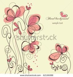 stock vector : Cute floral background