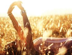 I want to lay in the grass and look that gorgeous:( lol this is a beautiful pic. I love the sunset.