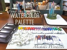 Mish Mash: Workspace Wednesday...Creating Your Own Watercolor Palette