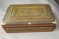 Vintage Syrian Mother of Pearl Inlay Box by BountyFromThePast on Etsy