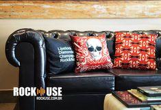 Almofadas rock n roll. Alguns dos meus trabalhos feitos pra marca ROCKUSE.