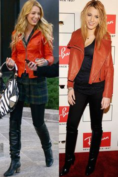 La giacca di pelle rossa