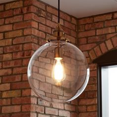 Orchard+Pendant+Light+-+Single+Light+-+Clear+Shade