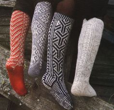 fair isle socks... makes me wish i had more patience when my aunt attempted to teach me to knit.