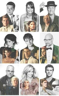 Catching Fire cast and their characters. They are all so perfect