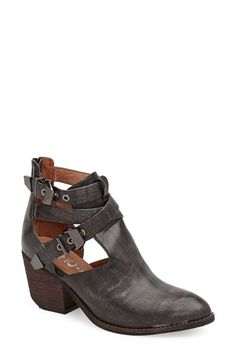 Free shipping and returns on Jeffrey Campbell 'Everwell' Boot at Nordstrom.com. Double buckles accentuate the open shaft of an urban bootie with Western undertones.