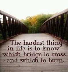 The hardest thing in life