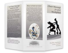 Chair Massage Workplace Brochure Template  A Marketing Brochure