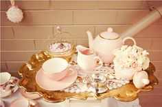 lovely pastel tea party