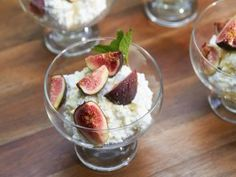 "The definition of SWEET AND SAVORY!  ""Fresh figs with ricotta and lavender honey"" ... delicious!"