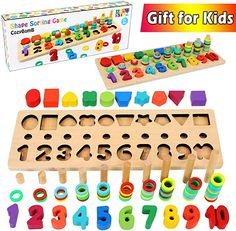 Preschool Learning Toys, Preschool Education, Montessori Toys, Toddler Learning, Toddler Toys, Number Puzzles, Shape Puzzles, Numbers Kindergarten, Learning Numbers