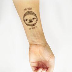 a temporary sloth tat